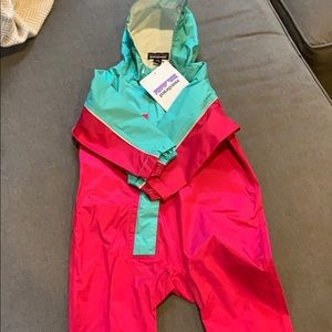 Baby Patagonia one piece rain suit